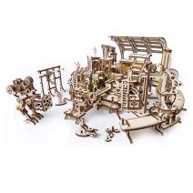 Механический деревянный конструктор Ugears Фабрика роботов 70039