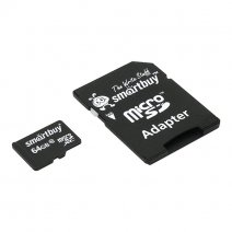 Карта памяти SmartBuy microSDXC Class 10 UHS-I U1 + SD adapter 64 ГБ