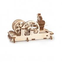 Механический деревянный конструктор Ugears Пневматический двигатель 70009