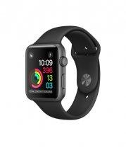 Умные часы Apple Watch series 2, 38mm , алюминиевые «серый космос», спортивный браслет черного цвета