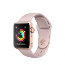 Умные часы Apple Watch Series 3 GPS, 38mm, золотистые алюминиевые, спортивный ремешок цвета «розовый песок»