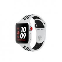 Умные часы Apple Watch Series 3 Nike+ GPS + Cellular, 38mm, корпус из серебристого алюминия, спортивный ремешок цвета «платиновый/чёрный»