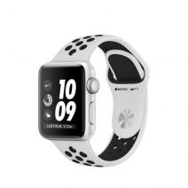 Умные часы Apple Watch Series 3 Nike+ GPS, 42mm , серебристый алюминиевый корпус, спортивный браслет цвета «чистая платина/чёрный»