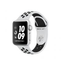 Умные часы Apple Watch Series 3 Nike  GPS, 38mm , серебристый алюминиевый корпус, спортивный браслет цвета «чистая платина/чёрный»