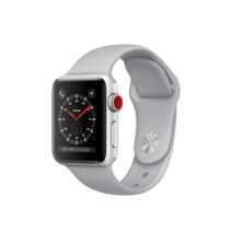 Умные часы Apple Watch Series 3 GPS+Cellular, 38mm, серебристые алюминиевые, спортивный браслет дымчатого цвета