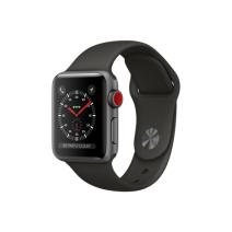 Умные часы Apple Watch Series 3 GPS+Cellular, 38mm, алюминий цвета «серый космос», спортивный браслет серого цвета