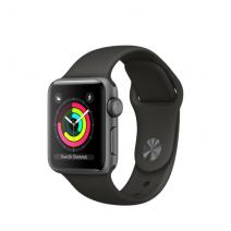 Умные часы Apple Watch Series 3 GPS, 38mm, алюминий цвета «серый космос», спортивный браслет серого цвета