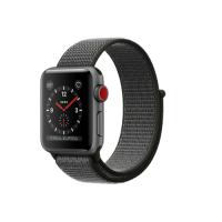 Умные часы Apple Watch Series 3 GPS Cellular, 38mm, корпус из алюминия цвета «серый космос», нейлоновый ремешок тёмно-серого цвета