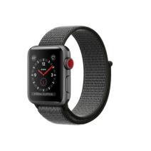 Умные часы Apple Watch Series 3 GPS+Cellular, 38mm, алюминий цвета «серый космос», нейлоновый ремешок тёмно-серого цвета