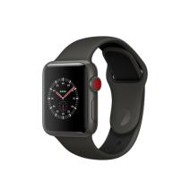 Умные часы Apple Watch Series 3 Edition, 38mm, корпус из керамики, спортивный ремешок серого/черного цвета