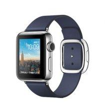 Умные часы Apple Watch series 2, 38mm, корпус из нержавеющей стали, ремешок тёмно‑синего цвета с современной пряжкой