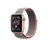 Apple Watch Series 4 GPS   Cellular, 40mm, корпус из алюминия золотого цвета, спортивный браслет (Sport Loop) цвета «розовый песок»