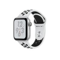 Apple Watch Series 4 Nike  GPS, 40mm, корпус из алюминия серебристого цвета, спортивный ремешок Nike цвета «чистая платина/черный»