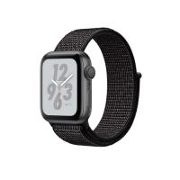 Apple Watch Series 4 Nike  GPS, 40mm, корпус из алюминия цвета «серый космос», спортивный браслет (Sport Loop) Nike черного цвета