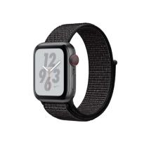 Apple Watch Series 4 Nike+ GPS + Cellular, 40mm, корпус из алюминия цвета «серый космос», спортивный браслет (Sport Loop) Nike черного цвета
