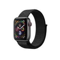 Apple Watch Series 4 GPS   Cellular, 40mm, корпус из алюминия цвета «серый космос», спортивный браслет (Sport Loop) черного цвета