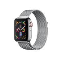 Apple Watch Series 4 GPS   Cellular, 40mm, корпус из стали, миланский сетчатый браслет серебристого цвета