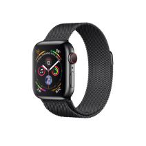 Apple Watch Series 4 GPS + Cellular, 40mm, корпус из стали цвета «черный космос», миланский сетчатый браслет цвета «черный космос»