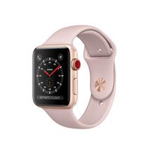 Умные часы Apple Watch Series 3 GPS+Cellular, 42mm, золотистые алюминиевые, спортивный ремешок цвета «розовый песок»
