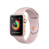 Умные часы Apple Watch Series 3 GPS, 42mm, корпус из золотистого алюминия, спортивный ремешок цвета «розовый песок»