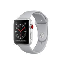 Умные часы Apple Watch Series 3 GPS Cellular, 42mm, корпус из серебристого алюминия, спортивный ремешок дымчатого цвета