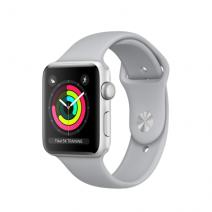 Умные часы Apple Watch Series 3 GPS, 42mm, серебристые алюминиевые, спортивный браслет дымчатого цвета