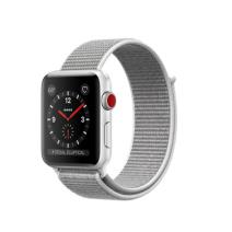 Умные часы Apple Watch Series 3 GPS+Cellular, 42mm, корпус из серебристого алюминия, нейлоновый ремешок дымчатого цвета