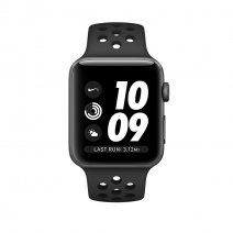 Умные часы Apple Watch Series 3 Nike+ GPS + Cellular, 42mm, корпус из алюминия цвета «серый космос», спортивный ремешок цвета «антрацитовый/чёрный»