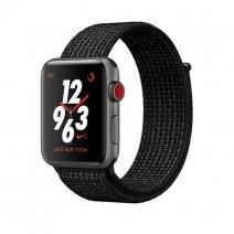 Умные часы Apple Watch Series 3 Nike+ GPS + Cellular, 38mm, корпус из алюминия цвета «серый космос», ремешок Sport loop черного цвета