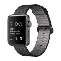 Умные часы Apple Watch series 2, 42mm, корпус из алюминия цвета «серый космос», ремешок из плетёного нейлона черного цвета