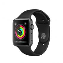 Умные часы Apple Watch Series 3 GPS, 42mm, алюминий цвета «серый космос», спортивный браслет черного цвета