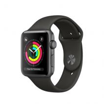 Умные часы Apple Watch Series 3 GPS, 42mm, алюминий цвета «серый космос», спортивный браслет серого цвета