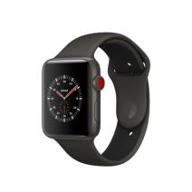 Умные часы Apple Watch Series 3 Edition, 42mm, корпус из керамики, спортивный ремешок серого/черного цвета