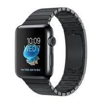 Умные часы Apple Watch series 2, 42mm, корпус из нержавеющей стали цвета «чёрный космос», блочный браслет цвета «чёрный космос»