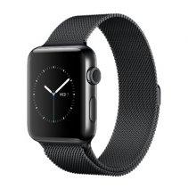 Умные часы Apple Watch series 2, 38mm, корпус из нержавеющей стали цвета «чёрный космос», миланский сетчатый браслет цвета «чёрный космос»