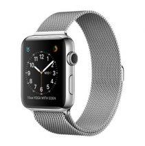 Умные часы Apple Watch series 2, 42mm, корпус из нержавеющей стали, миланский сетчатый браслет