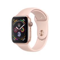 Apple Watch Series 4 GPS, 44mm, корпус из алюминия золотого цвета, спортивный ремешок цвета «розовый песок»