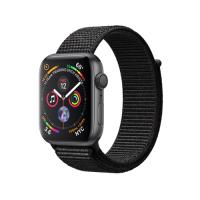 Apple Watch Series 4 GPS, 44mm, корпус из алюминия цвета «серый космос», спортивный браслет (Sport Loop) черного цвета
