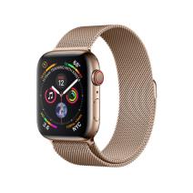 Apple Watch Series 4 GPS + Cellular, 44mm, корпус из стали золотого цвета, миланский сетчатый браслет золотого цвета