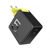 Портативный аккумулятор + сетевое ЗУ ROCK Sugar 2-in-1 Power Bank and Wall Charger 2 USB + Type-C