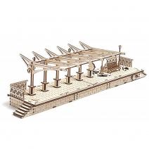 Механический деревянный конструктор Ugears Перрон 70013