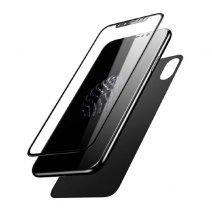 Комплект из переднего 3D стекла и заднего стекла Baseus Glass Film Set для iPhone X