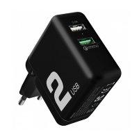 Сетевое ЗУ ROCK T13 Dual Port QC3.0 Travel Charger 2 USB