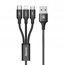 Кабель 3-в-1 Baseus Rapid Series USB – Lightning + micro USB + Type-C