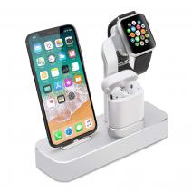 Док-станция для iPhone, Apple Watch и AirPods COTEetCI 3-in-1 Charger