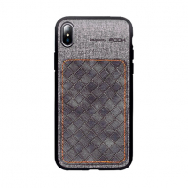 Чехол ROCK TPU PU Leather Protection Patchwork Case для iPhone XS Max