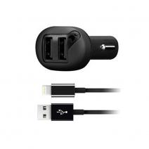 Автомобильное ЗУ + кабель Lightning Moonfish Car Charger 2 USB 4.8A