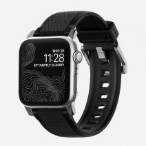 Спортивный резиновый ремешок c металлической застежкой Nomad Rugged Strap для Apple Watch