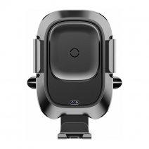 Автоматический автомобильный магнитный держатель с беспроводной зарядкой Baseus Smart Vehicle Bracket Wireless Charger