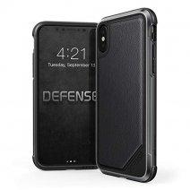 Защитный чехол с декоративной вставкой X-Doria Defense Lux Black Leather для iPhone X/XS